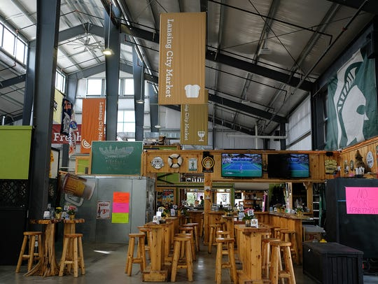 Inside the Lansing City Market is the Waterfront Bar
