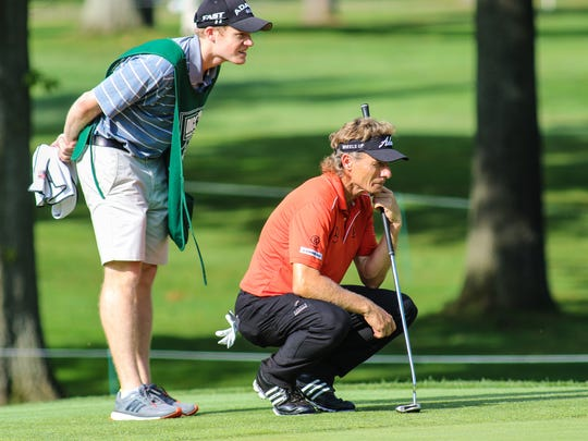 2014: Bernhard Langer ponders a putt at the 2014 Dick's