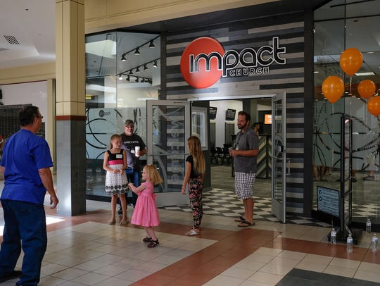 Impact Church has found a new home inside the Lansing Mall and held its first service Sunday, Sept. 16, 2018. About a hundred people attended.