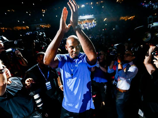 Memphis basketball coach Penny Hardaway at Memphis Madness at FedExForum on Oct. 4.