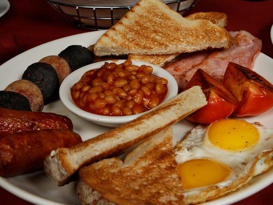 A traditional Irish breakfast at Blackthorn Restaurant