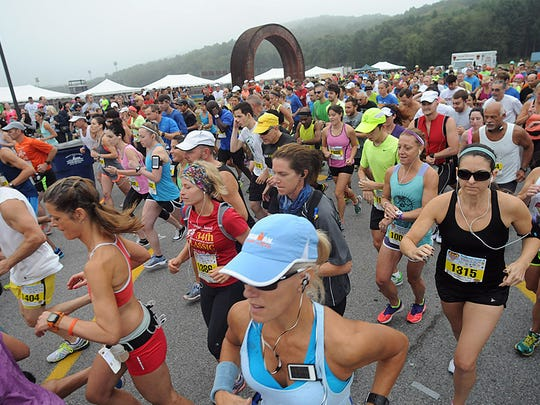 Runners compete in a past Dutchess County Classic at