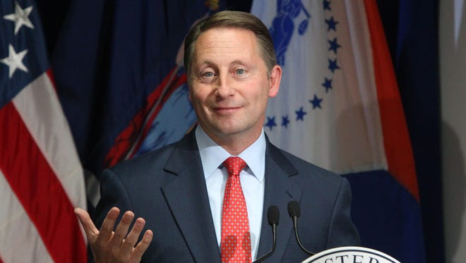 Westchester County Executive Rob Astorino presents details of his proposed budget Nov. 10.