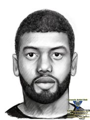 The police sketch made shortly after a robbery and burglary in Linden. Dawud Ward, of Plainfield, was later arrested, charged and admitted to the crimes in court.