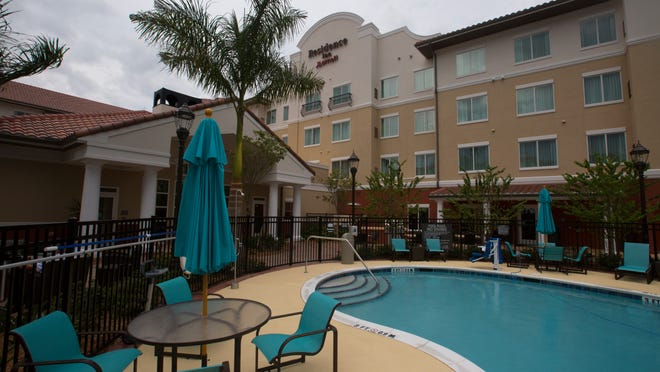 Exterior view of the new Residence Inn by Marriott, which is now open at Gulf Coast Town Center.