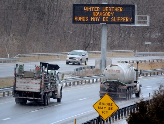 A weather advisory is displayed along Route 30 in West