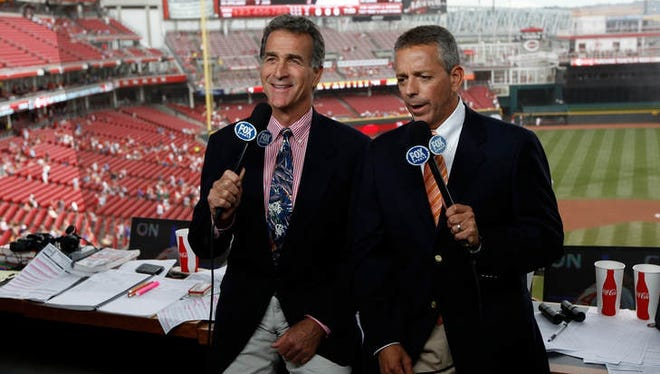 Chris Welsh (left) and Thom Brennaman are part of of the Reds' broadcast team for Fox Sports Ohio
