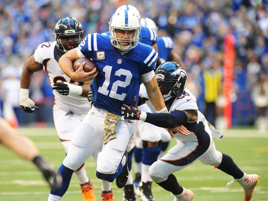 USP NFL: DENVER BRONCOS AT INDIANAPOLIS COLTS S FBN USA IN