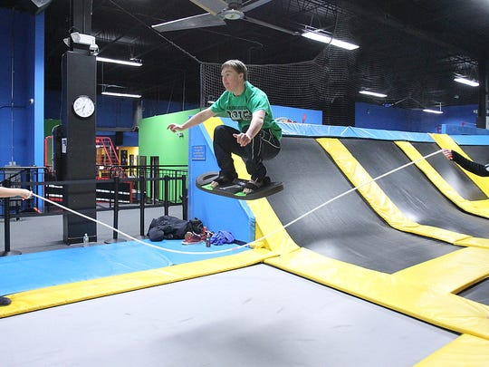 Have some rainy day fun at Bounce Trampoline Sports in Valley Cottage.   ( John Meore/The Journal News )