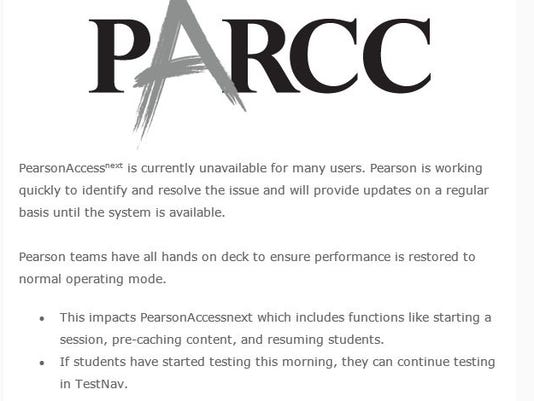 Pearson's email on PARCC