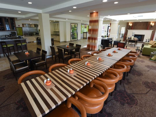 The lobby of the new Hilton Garden Inn in Flowood has a decor that is both modern and inviting.