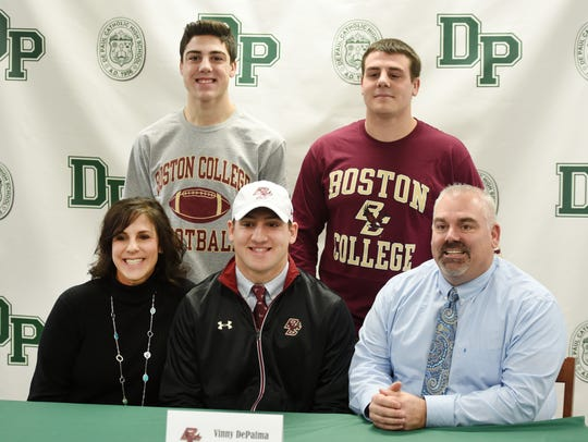 Vinny DePalma who is going to Boston College, has photos