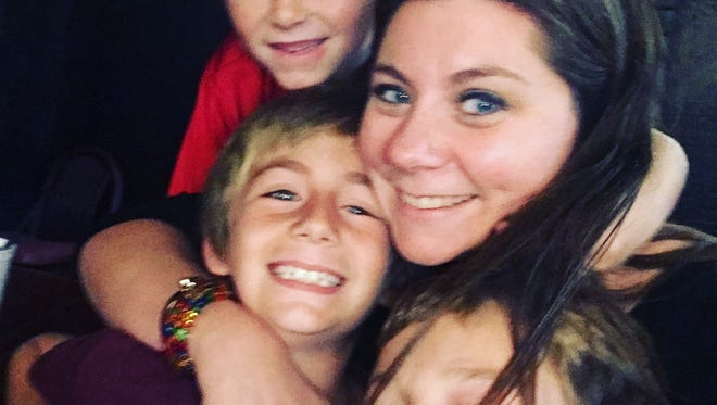 Katie and her boys.