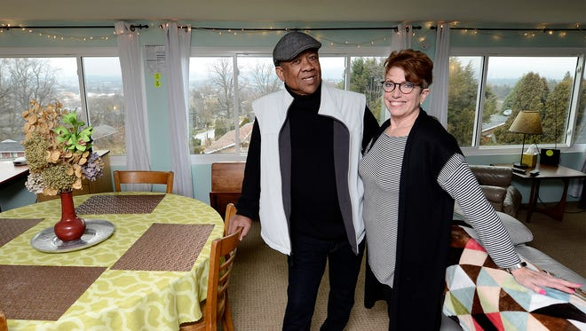 Kathryn Arnold and her husband James Wilson operate an AirBnB in Spring Garden Twp. She was discovered by the township's zoning officer as a host on AirBnB's website. Since then, she has influenced the township's ordinance affecting its change to include 'bed and breakfast' as legal operators in the township. Monday, February 18, 2018. John A. Pavoncello photo
