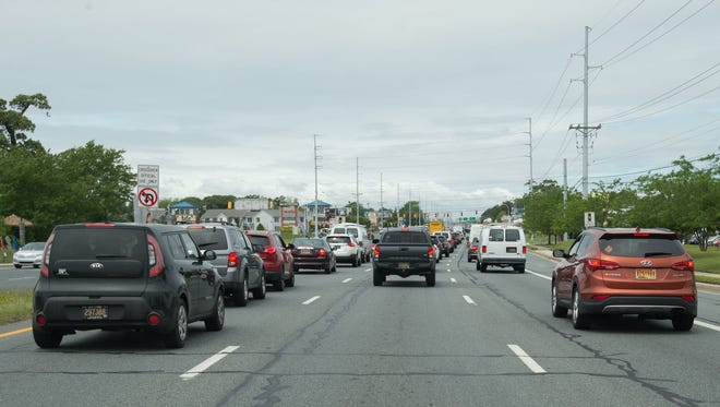 Traffic heading north on Route 1 in Rehoboth Beach. Traffic heading north on Del. 1 in Rehoboth.