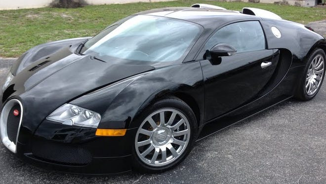 A 2008 Bugatti Veyron is part of a U.S. Marshals auction in Miami.