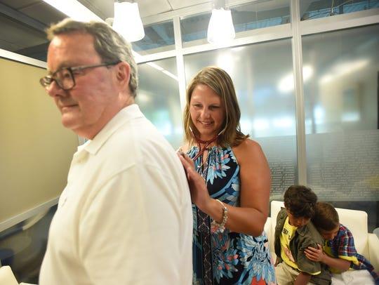 Eran Muto-Giles, the wife of lung donor Dr. Randy Giles,