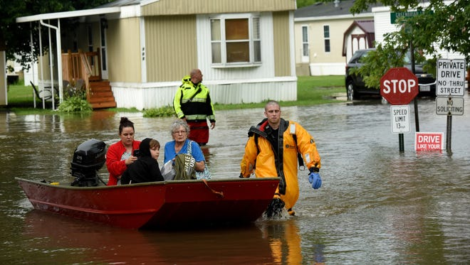 Residents were evacuated from Greenbriar Village in Hebron after heavy rains caused flooding in 2017.