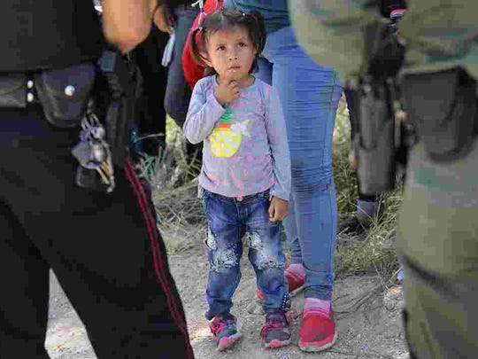U.S. border and immigration officers have separated about 2,000 migrant children from their parents at the Southern Border under the Trump administration's zero-tolerance immigration policy.