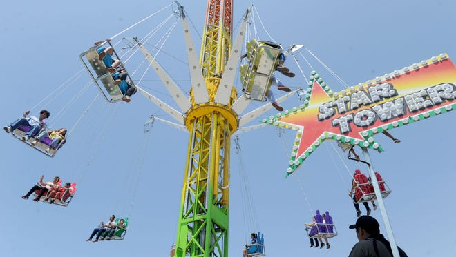 The Star Flyer at the Ventura County Fair midway. It's new this year.