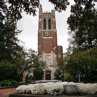 The John W. Beaumont Memorial Tower on the campus of