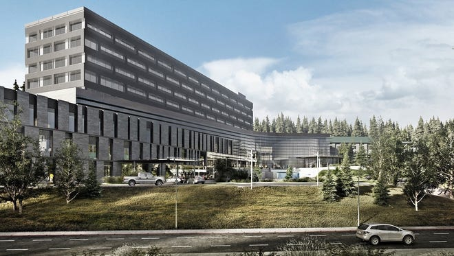 An artists rendering of the future Harrison Silverdale hospital.