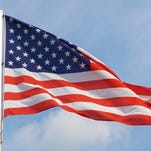 The national flag of United States.
