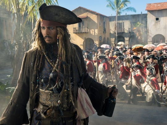 Jack Sparrow irks the law yet again in 'Pirates of the Caribbean: Dead Men Tell No Tales.'