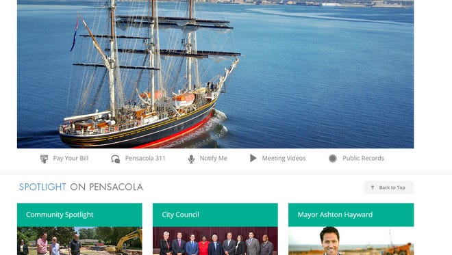 The city of Pensacola's website tied for third-highest out of 47 cities in the First Amendment Foundation's recent report card on local government website transparency, a news release from the city said.
