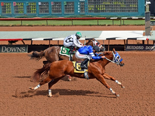 In the 400-yard By By JJ for two-year-olds, Terry and