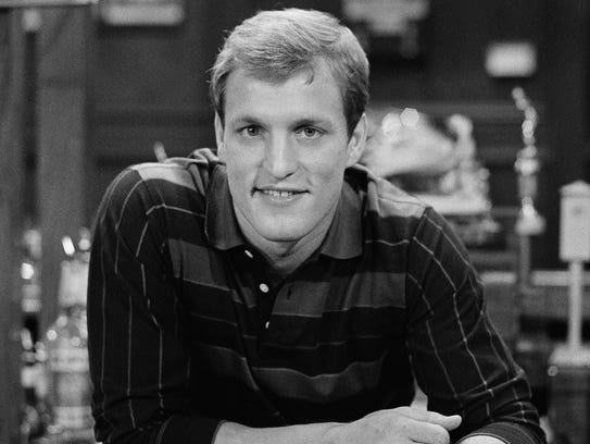 "Woody Harrelson portrayed Woody Boyd on ""Cheers."""