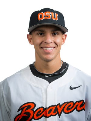 Oregon State infielder Nick Madrigal is the Pac-12 player of the week.