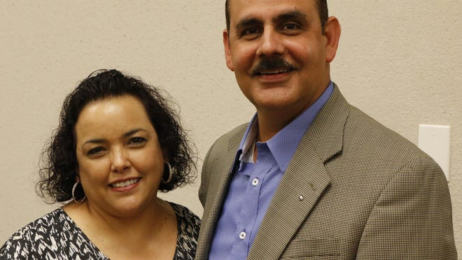 Yesy and Marco Sandoval are pictured in the Brownwood City Council chambers Tuesday morning.