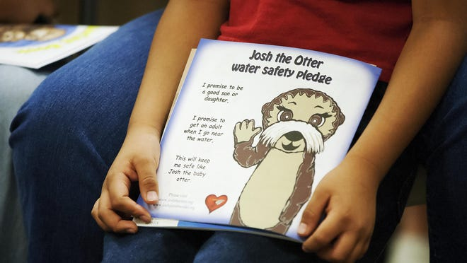 """Josh the Otter"" promotes children's water safety."