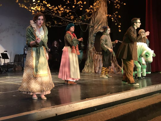 "Valhalla High School's production of Sondheim's ""Into the Woods"" felt like a chamber musical, on a spectacular set. Members of the Valhalla cast are scheduled to revisit the musical on May 12 at Harrison High School, during Pedro's Open Mic. Reserve tickets -- $5 adults, free for students -- at tickets.lohud.com."
