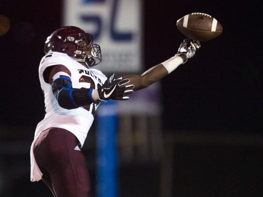 A pass intended for Fulton's Jashaun Fenderson falls