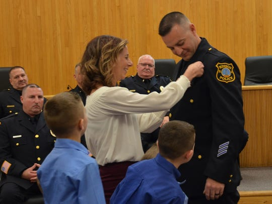 Newly promoted Edison Police Sgt. Robert Duffy