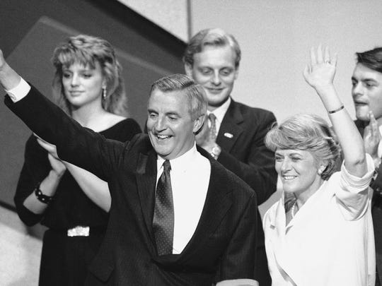 In this July 19, 1984 file picture, Democratic presidential