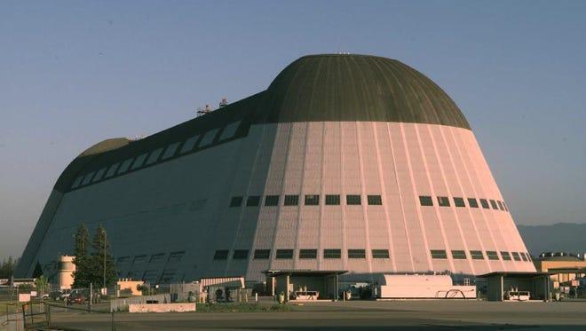 NASA's Hangar One at Moffett Field, Calif., taken in 1999.