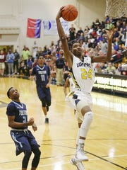 Lehigh Senior High School's Berrick Jean-Louis scores