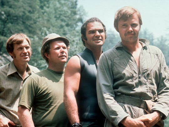 From left, Ronny Cox, Ned Beatty, Burt Reynolds and