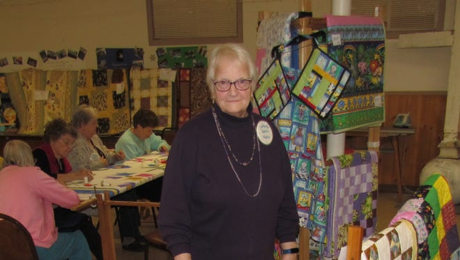 Audrey Sherman said the local quilting group always welcomes new members. Sublimity Quilters celebrate 40 years of stitching this year during the annual Quilt Show & Work Week, Jan. 22-26, 2018, at St. Boniface.