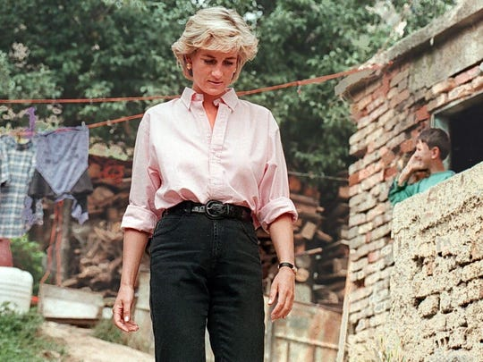 Princess Diana in Bosnia in 1997, shortly before her