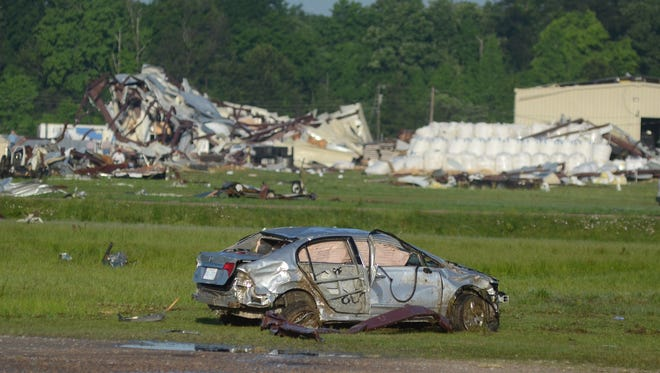 One motorist was killed in Richland as a tornado tore through the town Monday night.
