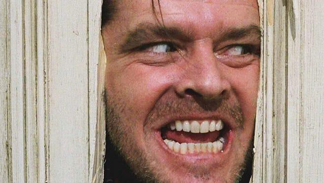 "Jack Nicholson stars in Stanley Kubrick's ""The Shining."""