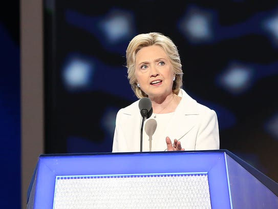 Hillary Clinton became the first woman to accept a