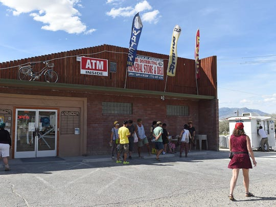 Burners arrive early outside the gates of Burning Man on Friday, Aug. 28, 2015. Businesses in and around Gerlach were ready for the onslaught.