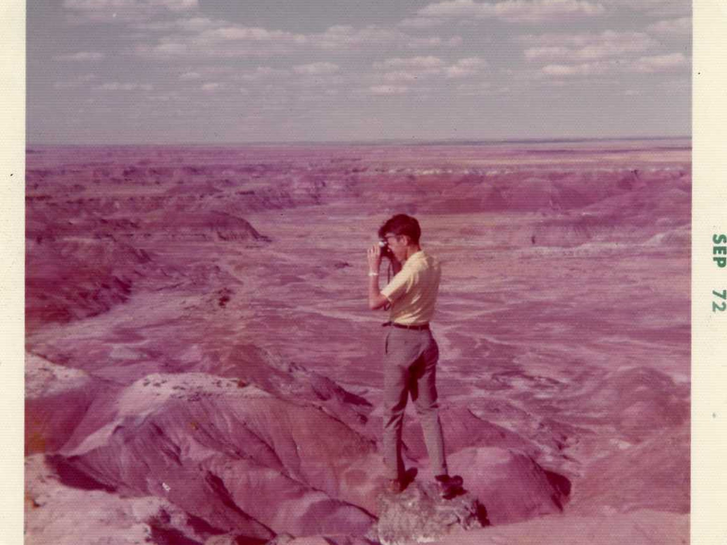 Kujawa takes slides of Painted Desert, Arizona, in