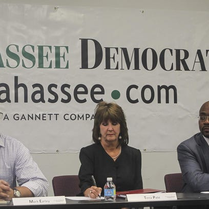 Supervisor of Elections candidates from left, Mark Earley, Tina Pate, and Alan Williams.