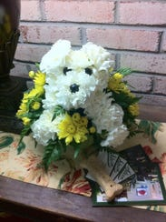This Adogable bouquet is available from Steins at Sunset